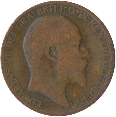1908 Half Penny Of Edward Vii. / Collectible Coin    #Wt5365