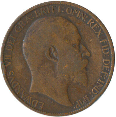 1910 Half Penny Of Edward Vii. / Collectible Coin    #Wt5366
