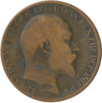 1907 Half Penny Of Edward Vii. / Collectible Coin    #Wt5367