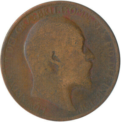 1907 Half Penny Of Edward Vii. / Collectible Coin    #Wt5368