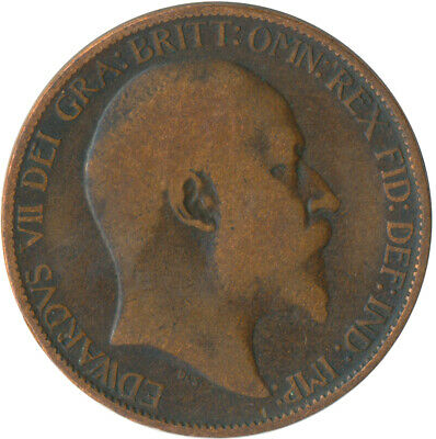 1904 Half Penny Of Edward Vii. / Collectible Coin    #Wt5369