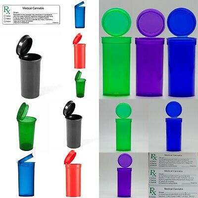 55 SQUEEZE POP top Pots herb weed PLASTIC TUB 13 DRAM STASH  FREE RX LABELS