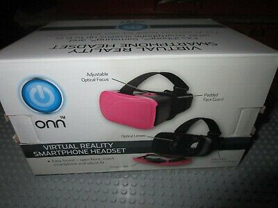 Onn Virtual Reality Smartphone Headset--Iphone, Samsung--Pink--New In Box