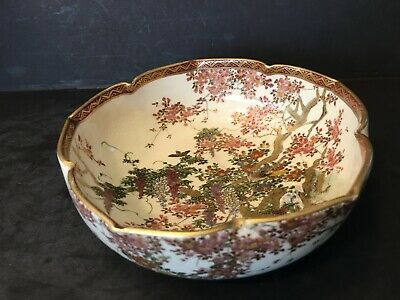 Antique Japanese Satsuma Bowl, Meiji period. Signed
