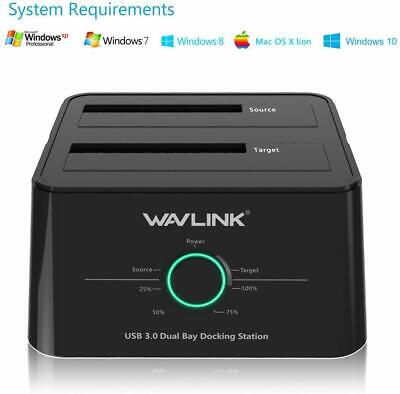 WAVLINK USB 3.0 to SATA (5Gbps) Dual-Bay Hard Drive Docking Station for 2.5 ?
