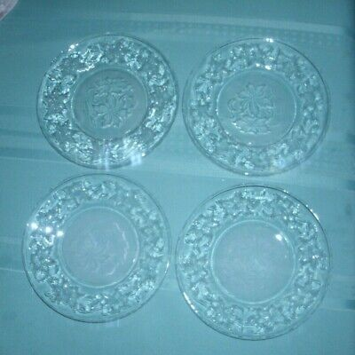 Princess House Fantasia  Set Of Four  Dessert/Bread Plates' '  Vg