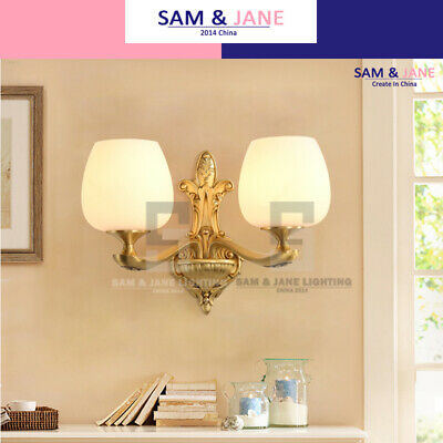 Frosted Grass Night Light Brass Wall Lamp BISTRO Wall Sconce French LED