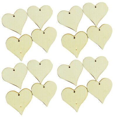 Craft Tags Decoupage Heart Shape Wedding Decoration Party Supplies Graffiti Wood