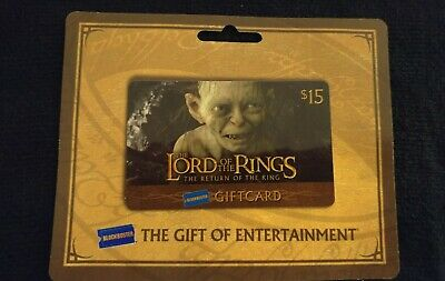 Blockbuster Video - Lord of the Rings Gift Card (No Value)