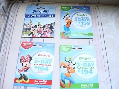 Disney Gift Card - Lot Of 4  - No Value With backing. Collectable, all different