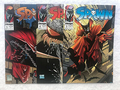 Spawn 3 4 5  NM  9.4 9.6 unopened unread 1992 McFarlane Image white