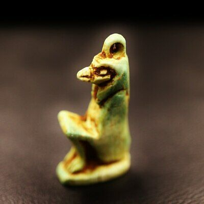 Rare Antique Egyptian Amulet Figurine Small Statue of God Anubis God Of Death