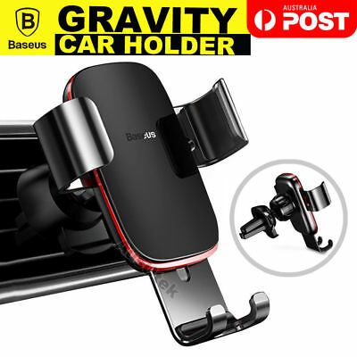 Baseus Metal Universal Gravity Car Holder Air Vent Mount For GPS SmartPhone FQ