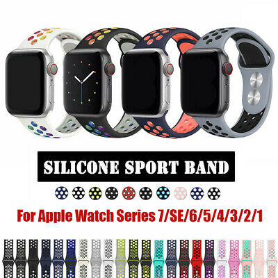 Silicone Sports iWatch Band Strap for Apple Watch Series 5 4 3 2 40/44mm 38/42mm