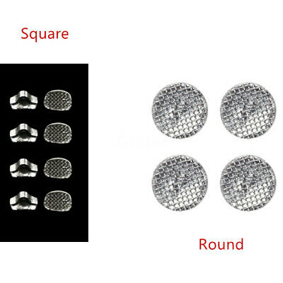 50x Lab Dental Direct Bond Eyelets Crimpable Hook Lingual Buttons Round/Square