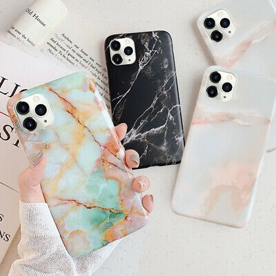 ShockProof Marble Phone Cover Silicone Case For iPhone XR XS MAX 8 7 6 6S Plus
