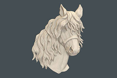 "3d stl Model for CNC Router Machine Artcam Vectric Aspire ""Horse head"""