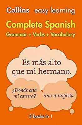 Easy Learning Spanish Complete Grammar, Verbs and Vocabulary (3 books in 1) (Col