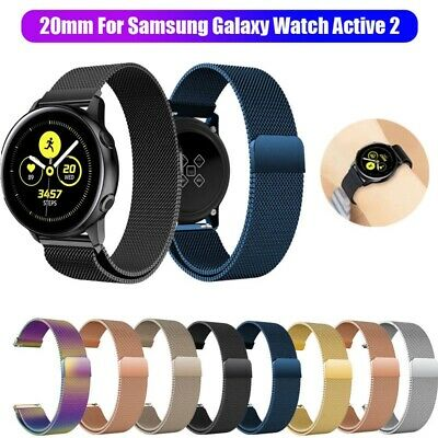 For Samsung Galaxy Watch Active 2 Magnetic Milanese Loop Wristwatch Band Strap