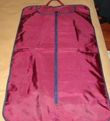 Unisex Burgundy Travel Garment Bag by Valentina