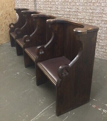 Antique Choristers Church Pew Bench Seating Oak