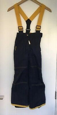 Mini Boden Girls Ski Salopettes Waterproof Trousers Age 6-7 Navy Blue Padded