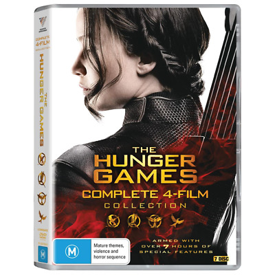 """The Hunger Games  Complete Movie Collection 7 Discs Dvd Box Set R4 """"New&Sealed"""""""