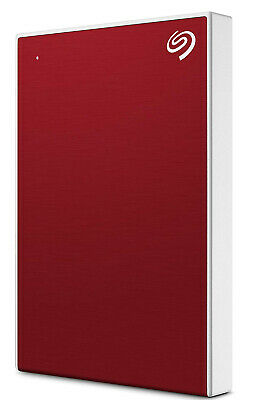 New Seagate - STHN2000403 - 2TB Backup Plus Slim Portable Drive - Red