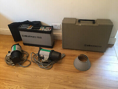 Elinchrom 202 pack Plus 2 Heads Good condition Just serviced Perfect Starter