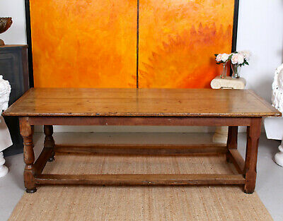Large Antique Pine Refectory Table Dining Table Country Farmhouse
