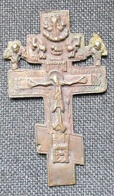 Russian Empire ancient orthodox bronze very large cross 1800-1900 original #30