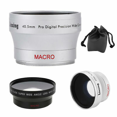 New 37mm 0.45X+40.5mm 0.45X+67mm 0.43X Wide Angle Lens for Canon Nikon Camera GD