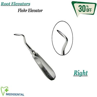 Surgical Dental Extracting Flohr Root Elevator Right