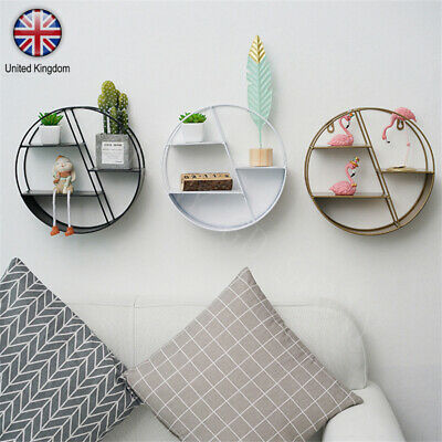 3 Tier Round Floating Wall Hanging Shelf Display Storage Shelve Decorative Rack
