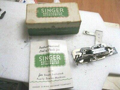 Vintage Singer Sewing Machine Buttonhole Attachment 121795 Lock Stitch Family .@