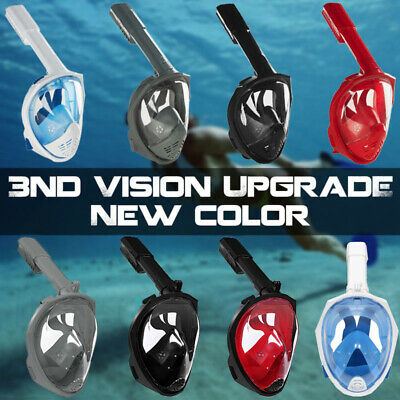 Anti-Fog Full Face Mask Foldable Surface Diving Snorkel Scuba for GoPro Swimming