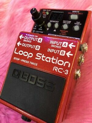 Used Boss RC-3  Loop Station Effects Pedal Electric Guitar  #11 Free shipping