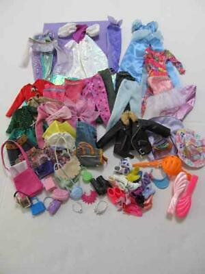 BIG Lot Barbie Doll Fashions Clothes Shoes Purses Accessories Dress Gown & MORE