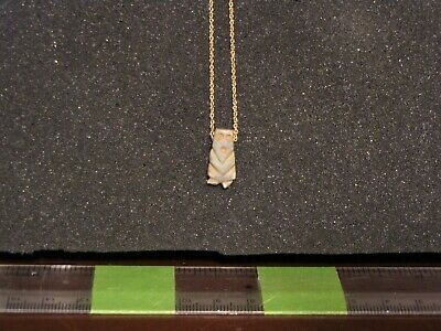 Pre Columbian, Jade/Gold, Authentic Pendant & 10 K Gold Chain, Class 400 800 AD