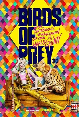 """Birds of Prey: And the Fantabulous Emancipation of Movie Poster 18"""" x 28""""  ID:3"""