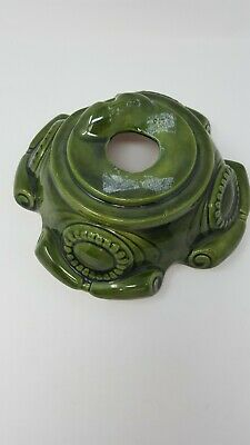 VINTAGE CERAMIC CHRISTMAS TREE LITE BASE FITS MANY 80s TREES GREEN REPLACEMENT