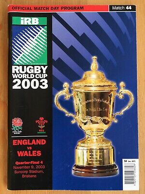 2003 Rugby World Cup England v Wales Quarter-final programme excellent condition