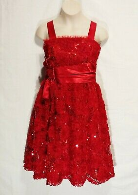 Sz 16 Girls Dress Rare Editions Red Party Wedding Holiday Christmas Pageant NWT