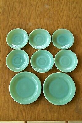 Vintage Lot Of 8 Fire King Oven Ware Jadeite Color Green Made In USA