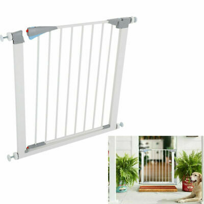 Pet Safety Gate Door Walk Through Child Toddler Pet Metal Easy Locking System US