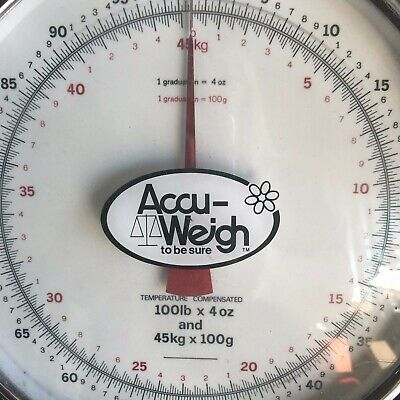 Accu-Weigh 100 lb x 4 oz Portable Table Top Scale