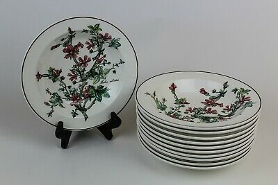 "Villeroy & Boch Botanica ☆ 7 3/4"" Rim Cereal Bowl Malva Silvestris 11 AVAILABLE"