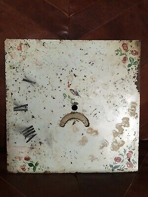 Antique Vintage Enamel Clock Dial Face