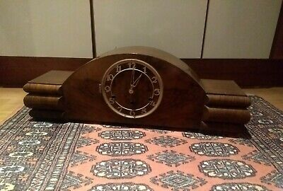 An Unsual Large Wooden Art Deco Clock* Chimming*