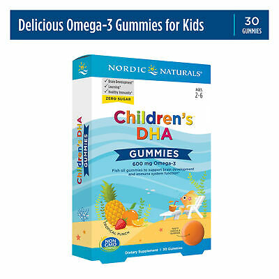 Nordic Naturals Children's DHA Gummies - Tasty Chewable Omega-3s for Kids, 30 Ct